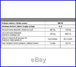 SALPA ANCRE POUR BATEAU QUICK CL1 500W CHAÎNE 6mm GUINDEAUX FOR 6mm