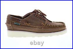 Sebago Keuka chaussures bateau pour hommes en suede marron 40