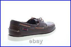 Sebago Portland chaussures bateau pour hommes en cuir marron