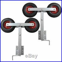 Set de 2 supports à double roue inclinable pour remorque à bateau 59 84 cm