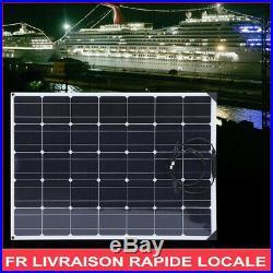 Set de panneaux solaires flexible 150W avec contrôleur+câble 10M pour bateau Car