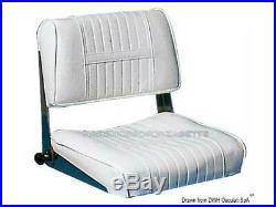 Siège pour Bateau Anatomique avec Dossier Accoudoirs Amovibles Helm Seat Pliable