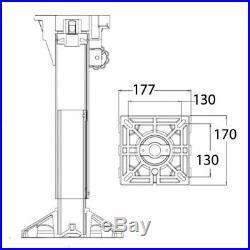 Siège pour Bateau avec Colonne en Douceur Hauteur Réglable cm 34 à 45