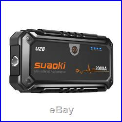 Suaoki U28 2000A démarreur de voiture de pointe pour voiture et bateau 12V