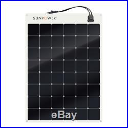 Sunpower Spr-E-Flex 170W 12V Demi Flexible Panneau Solaire pour Rvs, Bateaux