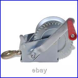 Support de treuil et treuil manuel à câble pour remorque auto bateau