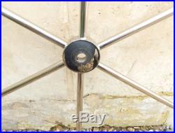 TRES BELLE barre à roue / volant/ gouvernail en inox pour bâteau diam 82 cm