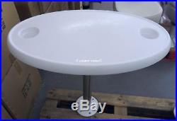 Table ovale pour bateau avec support amovible (cabine) pg