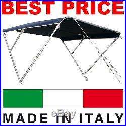 Taud de soleil Bimini 3 arceaux BEST PRICE pour Bateaux Canot MADE IN ITALY