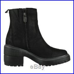 Timberland Bottes pour Femme Argent Fleur Rv Bateau Chaussures en Cuir Noir