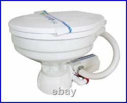 Toilette Wc Marin Électrique 12v en Porcelaine Blanche Pour Bateau Camper