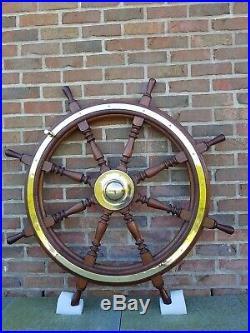 Très Belle Barre de Bateau de 1930 pour navigation ou superbe en déco