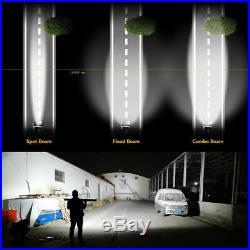 Tri-Row 52'' 2400W Barre de travail à LED light bar pour bateau Jeep + et câble