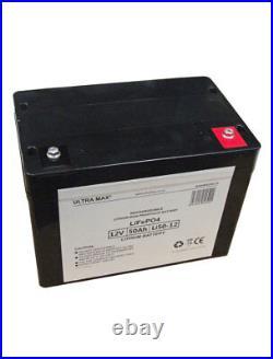ULTRAMAX 12v 50Ah LiFePO4 Batterie Pour Télécommande Voitures, Bateaux, Avion
