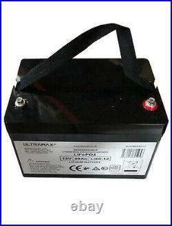 ULTRAMAX 12v 60Ah LiFePO4 Batterie Pour Télécommande Voitures, Bateaux, Avion