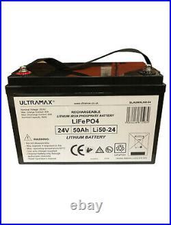 ULTRAMAX LI50-24 24v 50Ah Lithium LiFePO4 Batterie Pour Marine / Yacht / Bateau