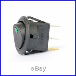 Ytian 5 Pcs DC 20A 12V Rond Interrupteur à Bascule pour Voiture Bateau avec LED